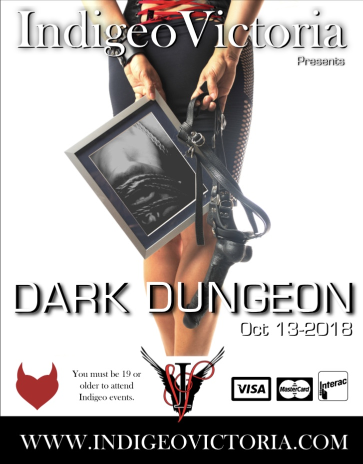 Indigeo Victoria Dark Dungeon Party, October 13th 2018, Ages 19+, Government issued ID required