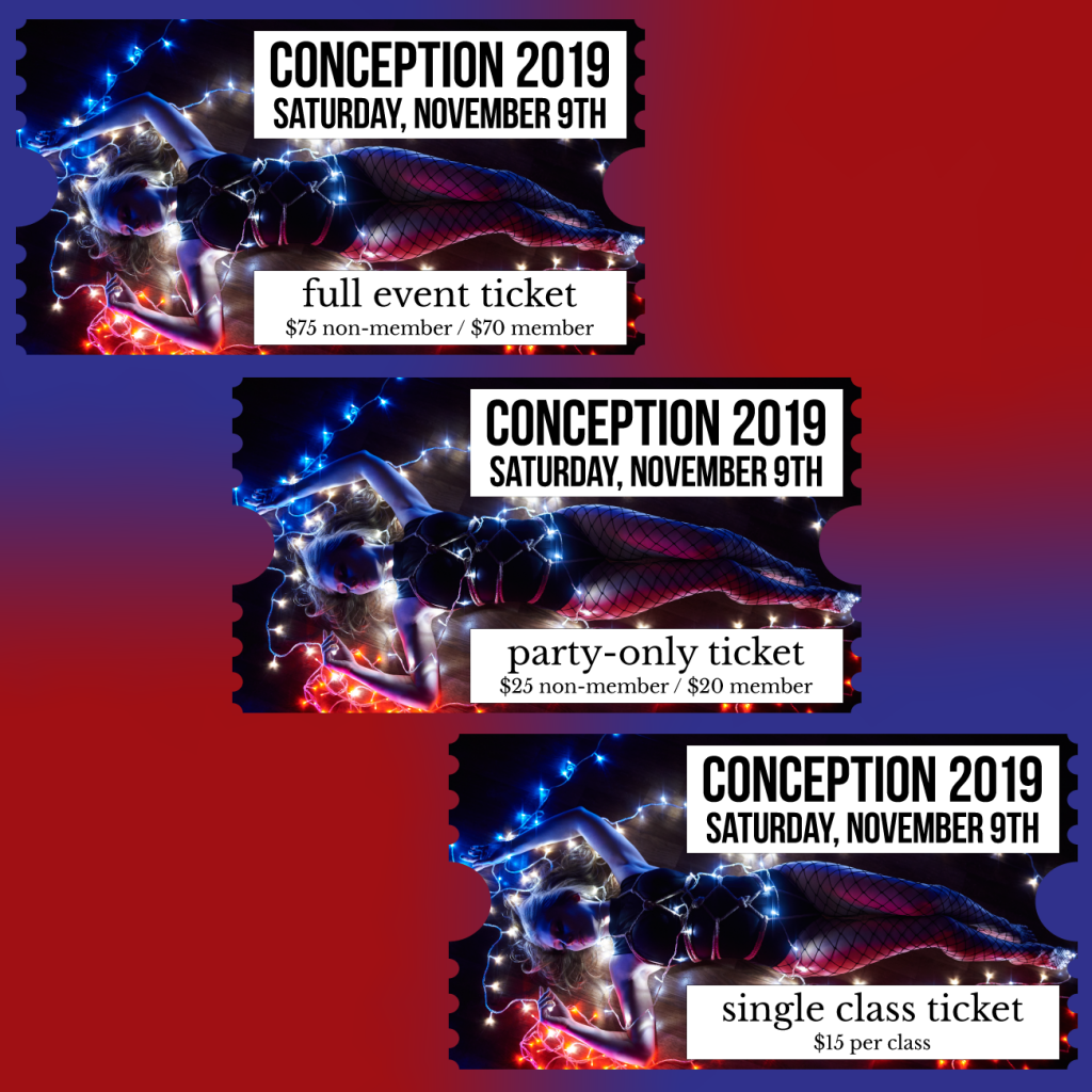 Conception 2019 Tickets (prices listed below)